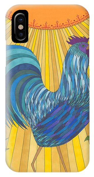 Blue Rooster IPhone Case