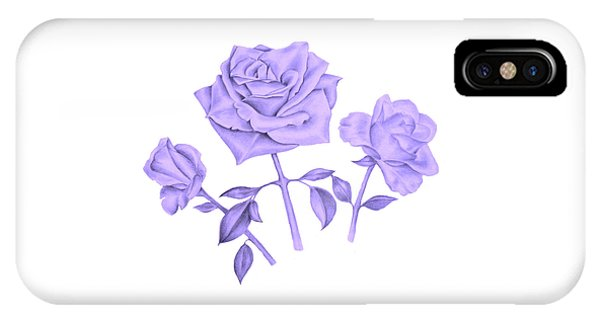 Blue Rose IPhone Case