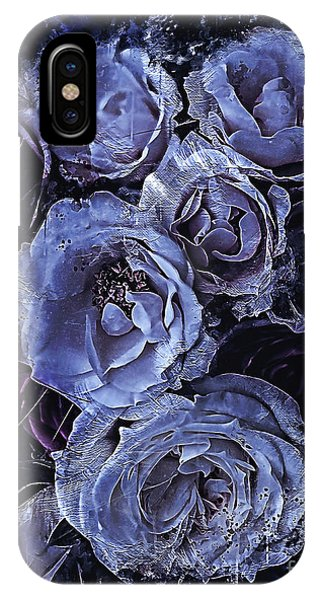iPhone Case - Blue Roses Art by Shanina Conway