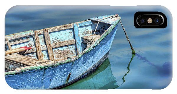 Blue Rowboat At Port San Luis 2 IPhone Case