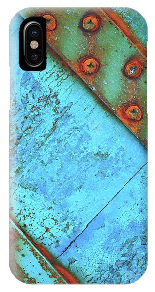 Blue Rusty Boat Detail IPhone Case