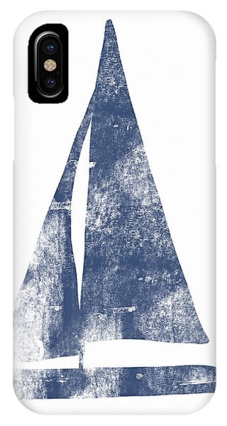 Simple iPhone Case - Blue Sail Boat- Art By Linda Woods by Linda Woods