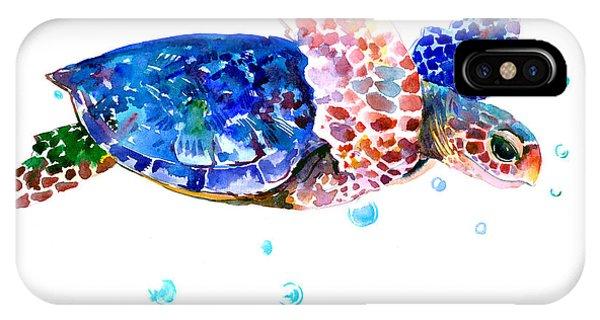 Blue Sea Turtle IPhone Case