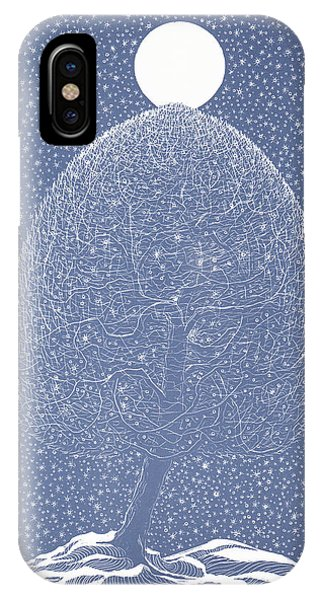 Blue Shadow Tree IPhone Case