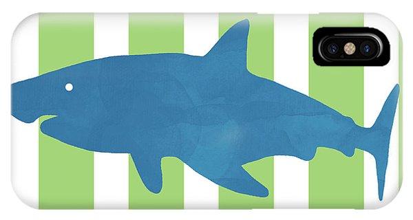 Hammerhead Shark iPhone Case - Blue Shark 1- Art By Linda Woods by Linda Woods