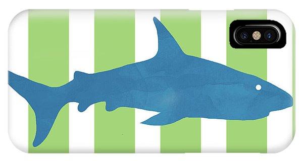 Hammerhead Shark iPhone Case -  Blue Shark 2- Art By Linda Woods by Linda Woods
