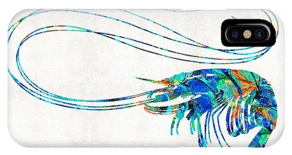Scuba Diving iPhone Case - Blue Shrimp Art By Sharon Cummings by Sharon Cummings