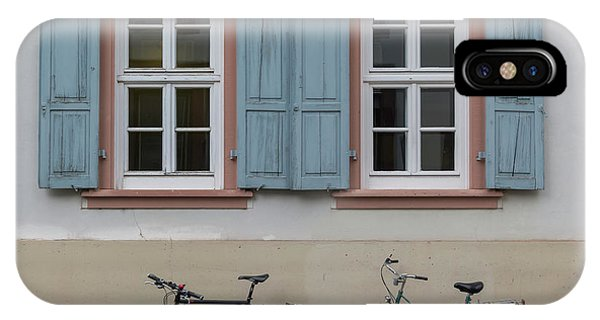 Blue Shutters And Bicycles IPhone Case
