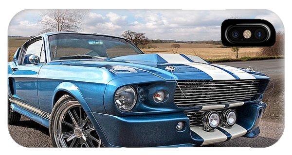Blue Skies Cruising - 1967 Eleanor Mustang IPhone Case