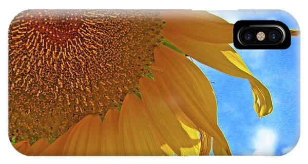 Blue Sky Sunflower IPhone Case