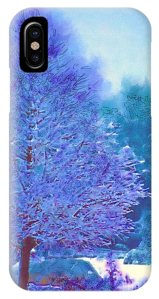Blue Snow Scene IPhone Case