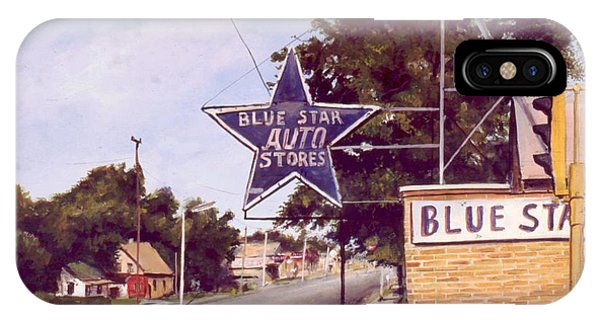 Blue Star Auto IPhone Case