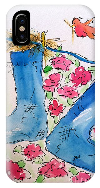 Blue Stockings IPhone Case