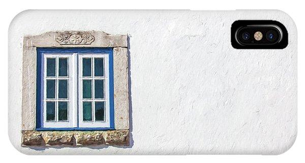 Blue Stone Window Of Obidos IPhone Case