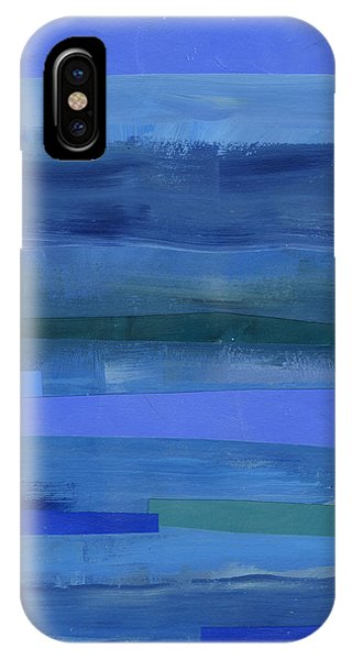 Pattern iPhone Case - Blue Stripes 1 by Jane Davies