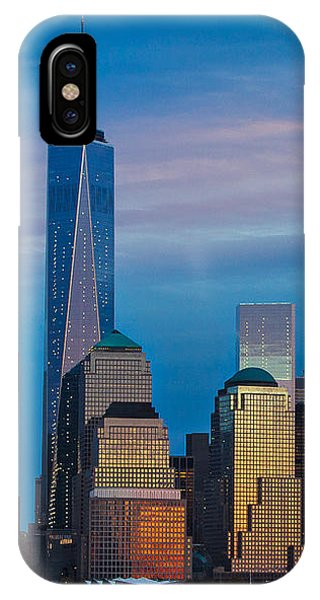 Blue Sunset At The World Trade Center IPhone Case