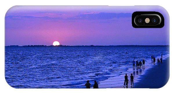 Blue Sunset On The Gulf Of Mexico At Fort Myers Beach In Florida IPhone Case
