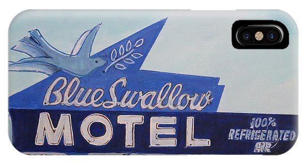 Blue Swallow IPhone Case