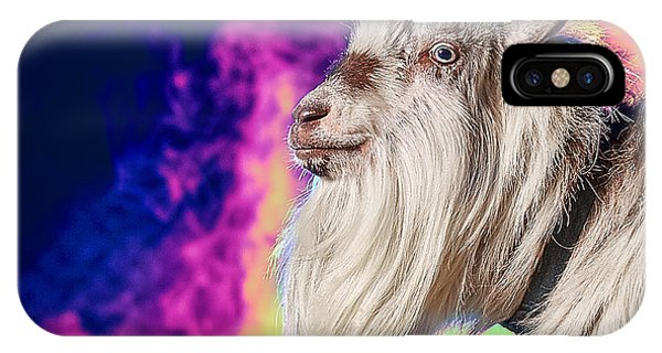 Blue The Goat In Fog IPhone Case