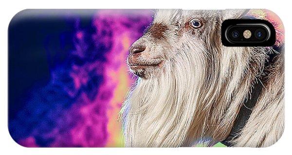 Blue The Goat In Fog IPhone Case
