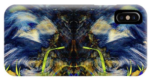 Blue Tigers Devil IPhone Case