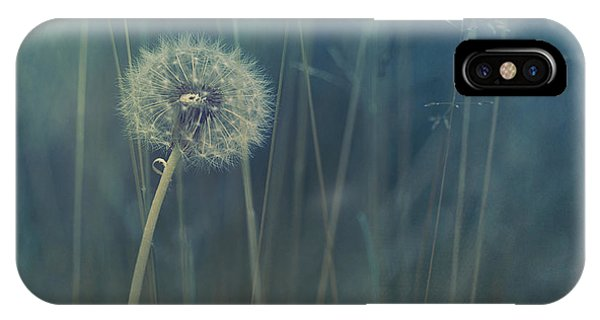 Flowers iPhone Case - Blue Tinted by Priska Wettstein