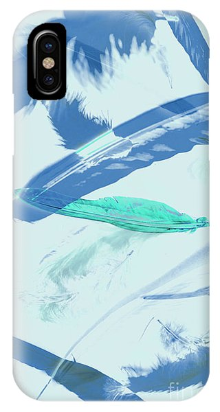 Pattern iPhone Case - Blue Toned Artistic Feather Abstract by Jorgo Photography - Wall Art Gallery