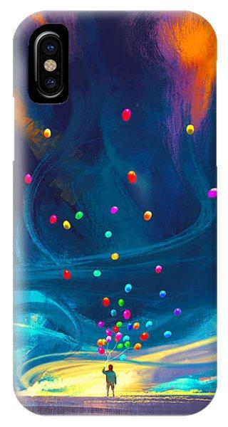 Blue Tornado IPhone Case