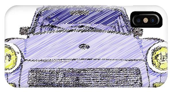 Blue Trabant IPhone Case