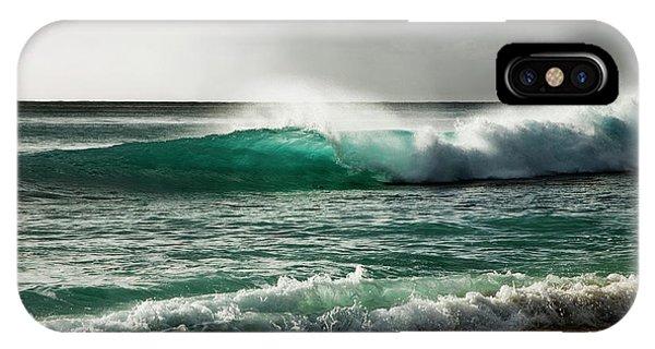 Blue Translucent Wave IPhone Case
