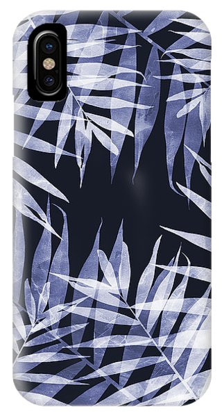 Blue Tropical Leaves IPhone Case