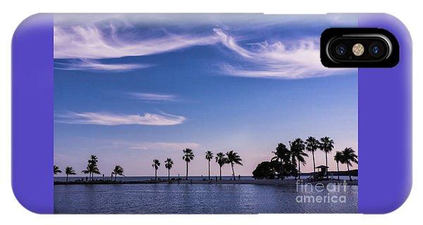 Blue Tropics IPhone Case