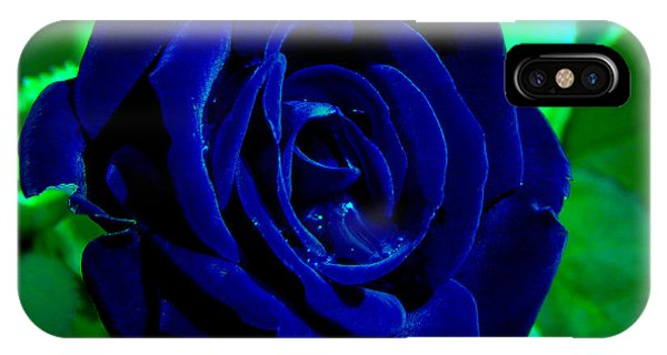 Blue Velvet Rose IPhone Case