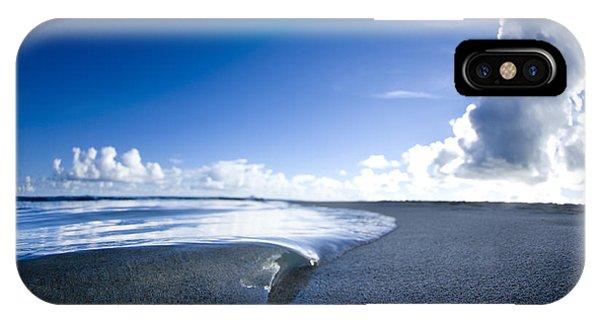 Salt Water iPhone Case - Blue Velvet by Sean Davey