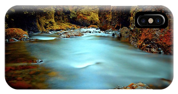 Blue Water And Rusty Rocks Signed IPhone Case