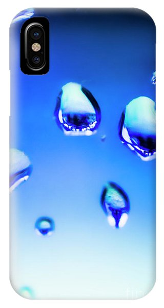 Water Droplets iPhone Case - Blue Water Droplets On Glass by Jorgo Photography - Wall Art Gallery