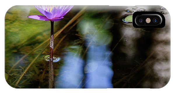 Blue Water Lily IPhone Case