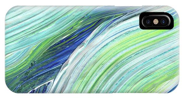 Organic Abstraction iPhone Case - Blue Wave Abstract Art For Interior Decor I by Irina Sztukowski