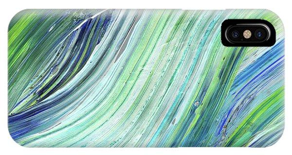 Organic Abstraction iPhone Case - Blue Wave Abstract Art For Interior Decor II by Irina Sztukowski