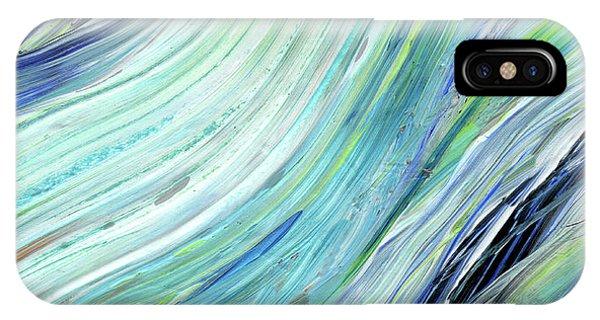 Organic Abstraction iPhone Case - Blue Wave Abstract Art For Interior Decor IIi by Irina Sztukowski