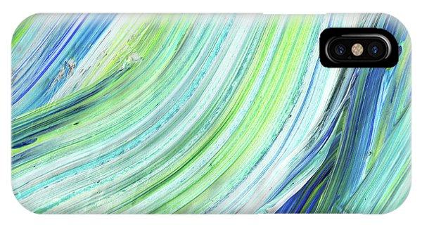Organic Abstraction iPhone Case - Blue Wave Abstract Art For Interior Decor Iv by Irina Sztukowski