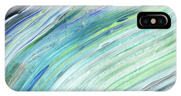 Organic Abstraction iPhone Case - Blue Wave Abstract Art For Interior Decor V by Irina Sztukowski