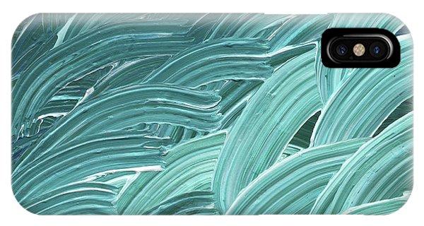 Organic Abstraction iPhone Case - Blue Wave Abstract Art For Interior Decor Viii by Irina Sztukowski