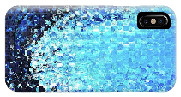 Tidal iPhone Case - Blue Wave Art - Pieces 7 - Sharon Cummings by Sharon Cummings