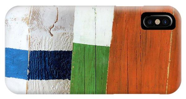 Blue White Green Orange  IPhone Case