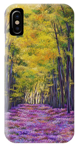 French Landscape iPhone Case - Bluebell Expanse by Johnathan Harris