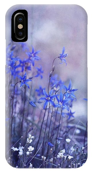 Monochrome iPhone Case - Bluebell Heaven by Priska Wettstein