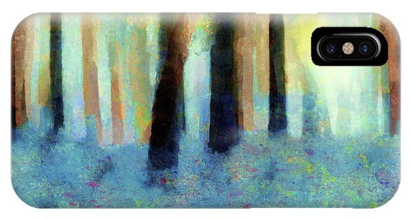 Bluebell Wood By V.kelly IPhone Case