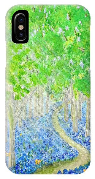 Bluebell Wood With Butterflies IPhone Case
