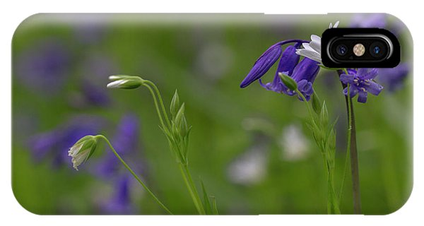 Bluebells And Stitchwort  IPhone Case